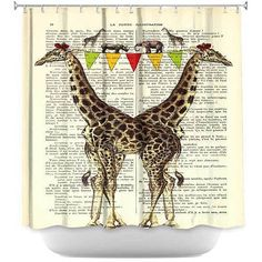 Buy Shower Curtain - DiaNoche Designs by Madame Memento - Giraffes by DiaNoche Designs on Dot & Bo