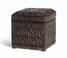A carved black and redguri lacquer box and cover, Ming dynasty, 16th century or later