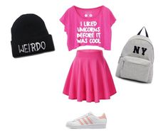 """""""Untitled #1"""" by yaeldeevans ❤ liked on Polyvore featuring adidas Originals, Joshua's, women's clothing, women, female, woman, misses and juniors"""