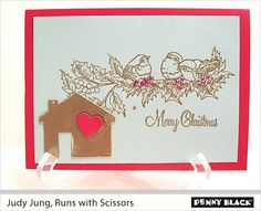 Runs with CHRISTMAS Scissors for Penny Black