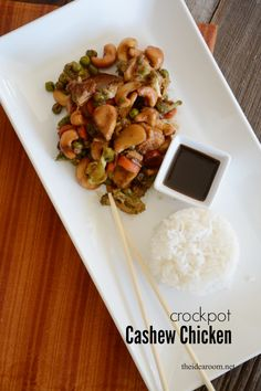 Crock Pot Cashew Chicken Recipe with Veggies | theidearoom.net