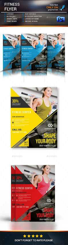Fitness Flyer  Gym Business Flyer Template
