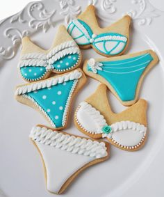 Bikini/lingerie cookies for clients coming in for a wax! How cute would this be???