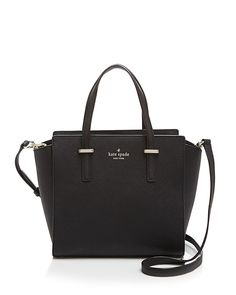 spade new york Cedar Street Hayden Small Satchel - Black/Gold A scaled-down silhouette and optional crossbody strap make this sleek saffiano leather satchel from kate spade new york as versatile as it is sophisticated. Luxury Handbags, Purses And Handbags, Cheap Handbags, Popular Handbags, Handbags Online, Designer Handbags, Designer Purses, Cheap Bags, Chanel Handbags