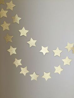 Twinkle Twinkle Little Star Gold Glitter Star Garland, First Birthday, Baby…