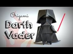 How to make an origami Darth Vader (Star Wars) - YouTube