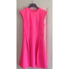 Ted Baker Hot Pink side pleat skater dress! BRAND NEW WITH TAGS! Never worn! Ted Baker size 1 (US size 4) Ted Baker Dresses