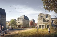 High density, urban social housing in Norwich - set to be the largest Passivhaus scheme in the UK.