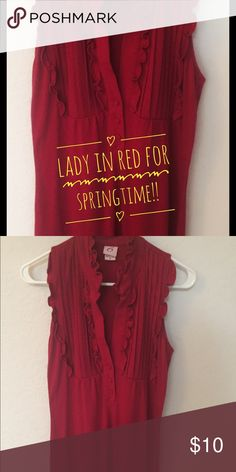 Red Dress 👠 Fun, Comfortable & in Excellent Condition!!! Just too small for me😃 6 Degrees Dresses Midi