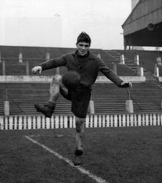 Duncan Edwards during training at Old Trafford, January 1954