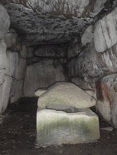Inside a kofun in Kibi