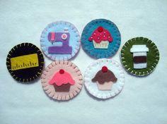Hand stitched merit badges.