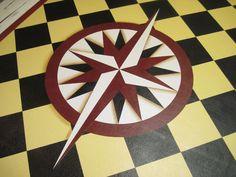 Mariners Compass Floorcloth.