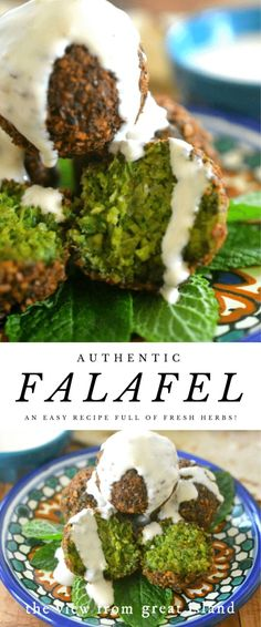 The Best Falafel ~ this vegan Middle Eastern chickpea fritter is crispy on the outside, and brilliant emerald green on the inside! Veggie Recipes, Beef Recipes, Whole Food Recipes, Cooking Recipes, Healthy Recipes, Vegetarian Recipes For Kids, Easy Lebanese Recipes, Vegan Snacks, Vegan Dinners