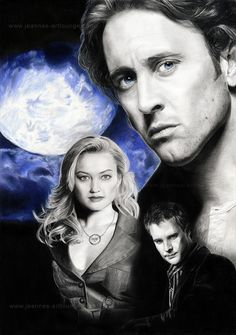 "Moonlight by Jeanne-Lui on deviantART ~ main characters of the tv show ""Moonlight"". It's Alex O'Loughlin as Mick St. John, Sophia Myles as Beth Turner and Jason Dohring as Josef Kostan"