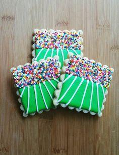 Decorated Iced Sugar Cookies Football Stadium by JKcookieCreations