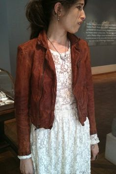 how to wear brown leather jacket | Billy Reid Says: 'Don't Try This At Home' - Heard on the Runway ...