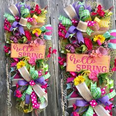 Hello Spring Swag by Holiday Baubles