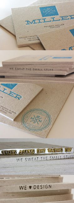 Clever Unexpected Detail On A Letterpress Business Card For A Branding Agency