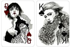 Beautifully Hand-drawn Fashion Playing Cards Project by Connie Lim