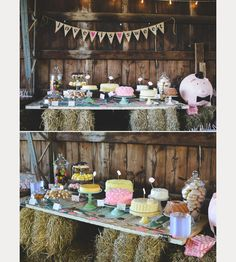 Rock'n Rustic Wedding Dessert Tables & Displays - Mon Cheri Bridals