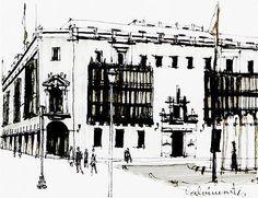Edificios coloniales en la Plaza de Armas, Lima - Perú.  Carlos Calvimontes Rojas