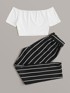 Cute Lazy Outfits, Crop Top Outfits, Kids Outfits Girls, Girls Fashion Clothes, Teen Fashion Outfits, Pretty Outfits, Stylish Outfits, Cool Outfits, Jugend Mode Outfits