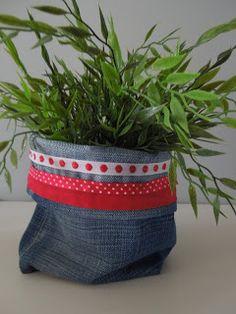 Les Toiles Roses: Vide-poches en jean recyclé