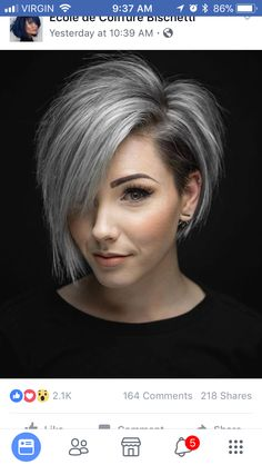 Edgy cut. Pretty soft silver.