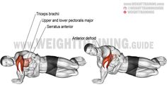 training workouts Exercise name: Side push-up. Synergists: Upper Pectoralis Major, Anterior Deltoid, Triceps Brachii, and Serratus Anterior. Best Shoulder Workout, Best Chest Workout, Chest Workouts, Chest Exercises, Shoulder Exercises, Fitness Workouts, Weight Training Workouts, Sport Fitness, Training Exercises