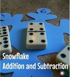 What can you do with a foam snowflake? Play lots of math games, of course! Find out how in this post, and visit other posts on the I Teach First December Linky Party!