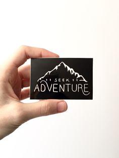 Seek Adventure. Vinyl Sticker Hiking Gear Laptop Sticker Camping Sticker Car Decal Bumper Sticker Mountain Outdoors MacBook Stocking Stuffer by BadonHill on Etsy https://www.etsy.com/listing/276153962/seek-adventure-vinyl-sticker-hiking-gear