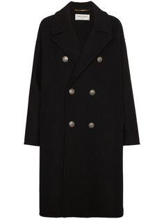Saint Laurent двубортное пальто
