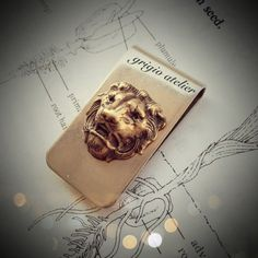 NEW  The Lioness Money Clip  Made in USA findings  Brass by grigio, $20.00