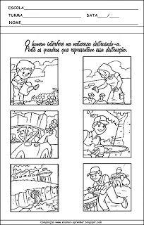 MEIO AMBIENTE ATIVIDADES PARA EDUCAÇÃO INFANTIL | Cantinho do Educador Infantil