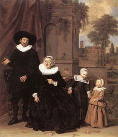 Paintings Reproductions Hals, Frans Family Portrait, 1635