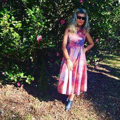Attractive Watercolor Coelneck Dress