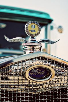 """Ford Model A Winged Hood Ornament by RetroRoadsidePhoto...""""this is pretty cool, very classy"""" Ford Trucks, Car Ford, Vintage Cars, Antique Cars, Radiator Cap, Car Ornaments, Automobile, Ford Models, Hoodie"""