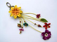 Lederanhänger,+Lederblumen,+100%+Handarbeit+von+Siamrose+-+Art+&+Decor+auf+DaWanda.com