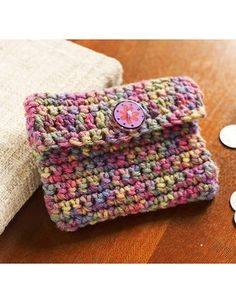Best Free Crochet » Free Crochet Change Purse Crochet Pattern from RedHeart.com