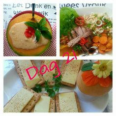 Day 21 28 Dae Dieet, Dieet Plan, Healthy Food, Healthy Recipes, 28 Days, Afrikaans, Eating Plans, Diabetes, Meal Planning