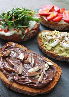 We're adding these four breakfast tartines (two sweet, two savory) to our weekend brunch rotation, pronto.