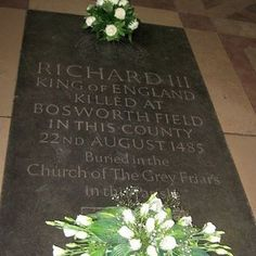 Richard III memorial in Leicester Cathedral.