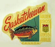 """This is a new high quality vinyl sticker that is a modern reprint of a classic decal from the """"Golden Age of Travel"""". This durable vinyl decal is highly scratch and fade resistant, and is suitable for indoor or outdoor use. Columbia, Retro Advertising, Ads, Great Vacation Spots, Canadian Things, Saskatchewan Canada, Typography Letters, Lettering, Cool Countries"""