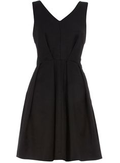 Pleated, v-front black dress. So simple, almost 1950's-esque.