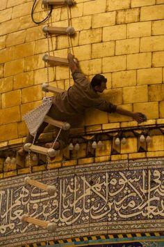 Dome cleansing öf Sayed Ul Shuhada a.s shrine