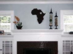 Our Heart in Africa. Ethiopia, Rwanda, Ghana, Uganda decorative  Vinyl decal. $36.00, via Etsy.