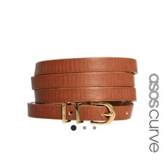 NWOT Asos Curve US Sz 16 Skinny Waist Belt brand new, never worn. in perfect condition. not real leather but good quality. ASOS Accessories Belts