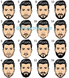 """Páči sa mi to: 1,107, komentáre: 24 – Men's hairstyles inspiration✂️ (@4hairpleasure) na Instagrame: """"Short beard styles; which one(s) do you like ? Follow @4hairfashion for more great hairstyles…"""""""