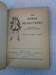 Alexandre Dumas THE THREE MUSKETEERS Whitman Publishing Co c.1946 HC | eBay